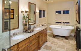 Master Bathroom with Freestanding Bathtub