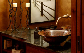 Bathroom Detail with Copper Sink