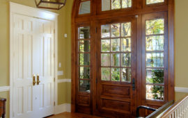 Front Entry with custom Millwork