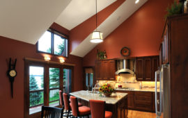 Remodeled Kitchen with Angled Ceiling