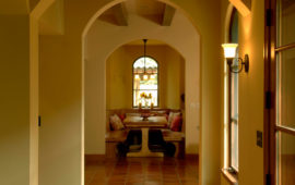 Hallway in Villa Style Home