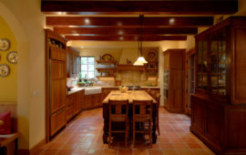 Villa Style Kitchen in Minnesota / Wisconsin Home