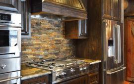 Cabin Kitchen with Dark Cabinets