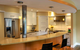 MN Kitchen with Rounded Breakfast Bar