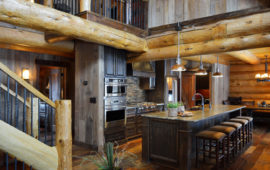 Open Concept Log Cabin