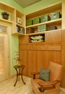 Den with Custom Cabinetry