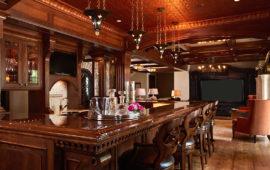 Custom Bar and Entertainment Area