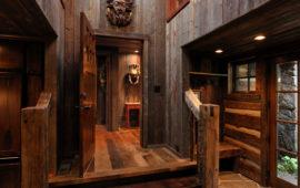 Custom Lake Home Design With Wooden Hallway