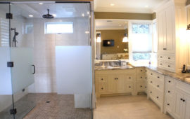 Bathroom Remodel with Walk-In Shower and Custom Cabinets