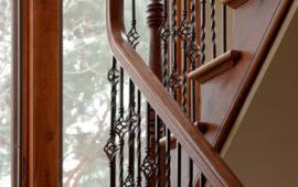 Staircase railing detail
