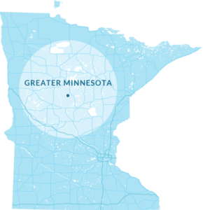 Greater Minnesota Map Graphic