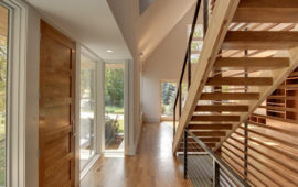 Wood Staircase and Hallway