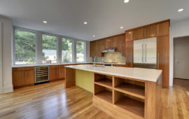 Large Modern Kitchen with Custom Wood Cabinets