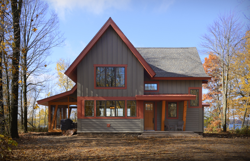 Building A New Home Ideas Part - 27: WI Custom Lake Home On Red Cedar Lake