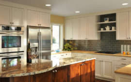 MN Kitchen Remodel with Contrasting Cabinets