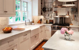 MN Kitchen Remodel with White Cabinets Wood Floors