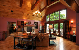 Lake Home with Wood Vaulted Ceilings