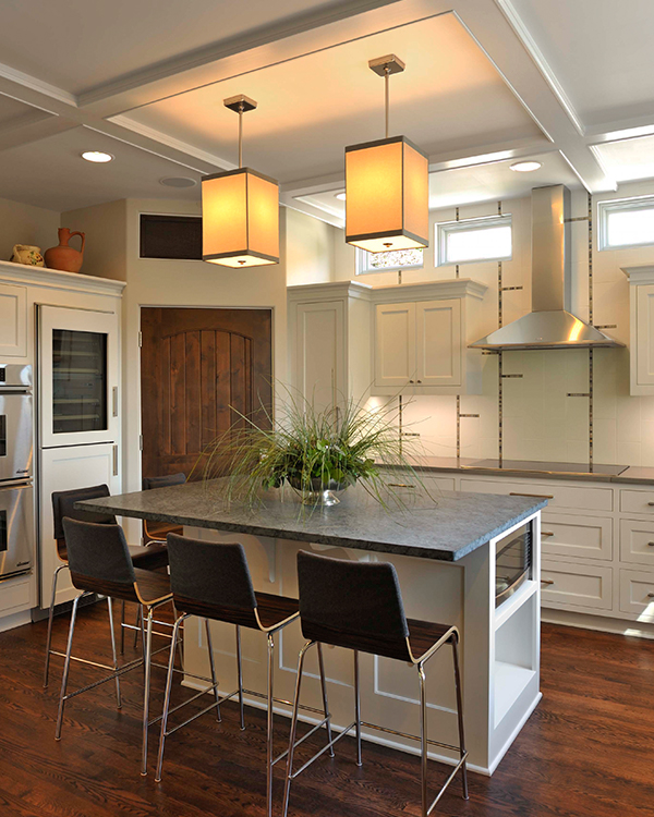 Transitional Modern White Kitchen Remodel