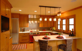 Kitchen Remodel Cork Floors Wood Cabinets