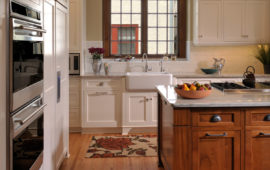 MN Kitchen Remodel with White and Wood Cabinets