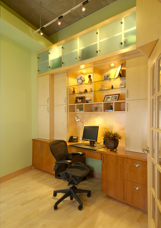 Office with Custom Cabinetry
