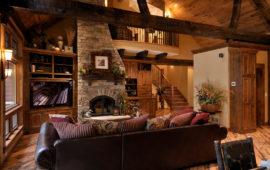 Great Room in Custom Lake Home