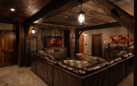 Rustic Lower Level of Lake Home