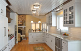 White Cabinet Kitchen Remodel MN