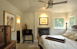 Small Fireplace in Master bedroom