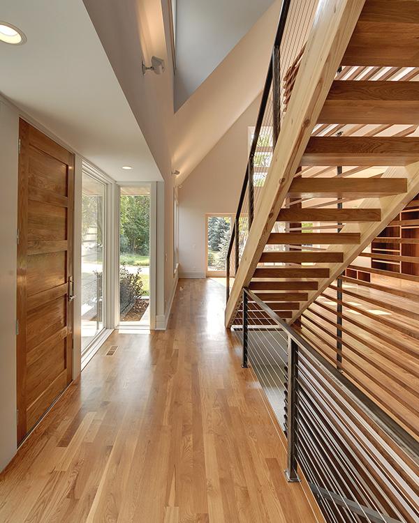 Modern Interior Wood Staircase