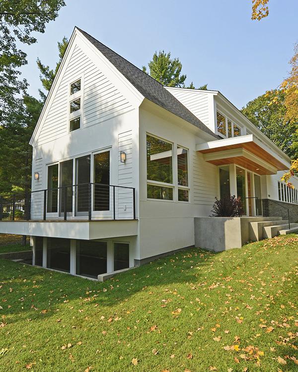 White Home Exterior