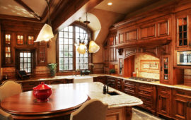 Kitchen with custom wood cabinetry