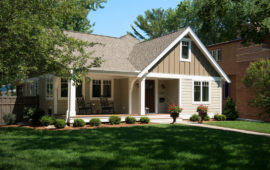 MN Home Exterior Tan with White Trim