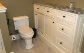 Toilet and Custom Built-Ins