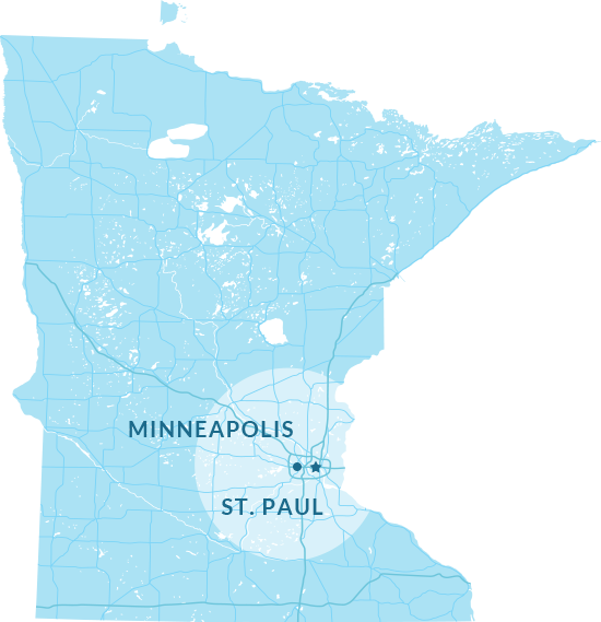Twin Cities Map Graphic