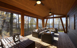 Screened Porch on Lake Home