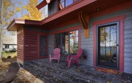Backyard Porch of Custom Lake Home